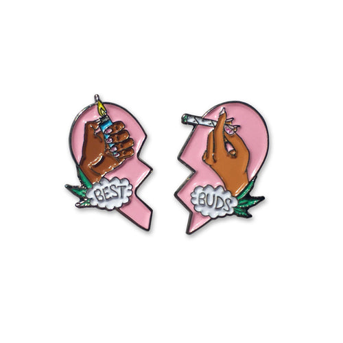 Sara M. Lyons Best Buds Enamel Pin Set