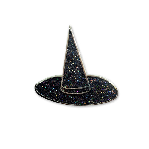 Sara M. Lyons Glitter Witch Hat Enamel Pin