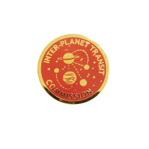 Jackie Lee Inter-Planet Transit Commission Enamel Pin