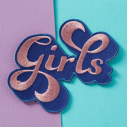 Punky Pins Girls Iron On Patch