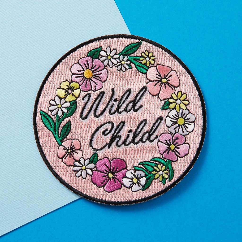 Punky Pins Wild Child Iron-On Patch