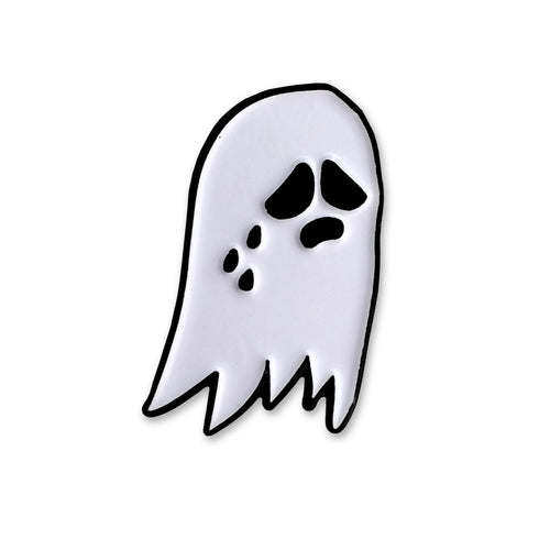 Sara M. Lyons Sad Ghost Enamel Pin