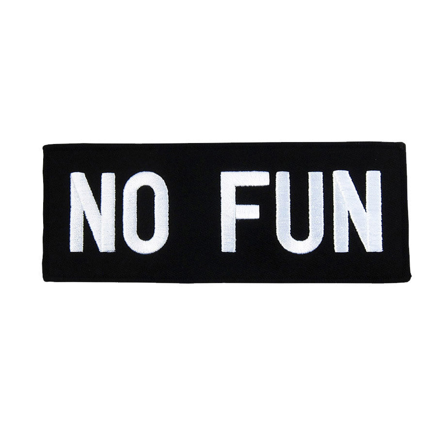 No Fun Logo Patch