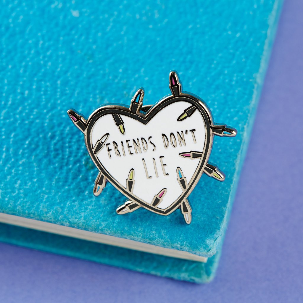 Punky Pins Friend Don't Lie Stranger Things Enamel Pin
