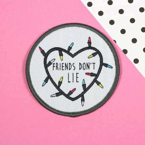 Punky Pins Friend Don't Lie Stranger Things Iron On Patch
