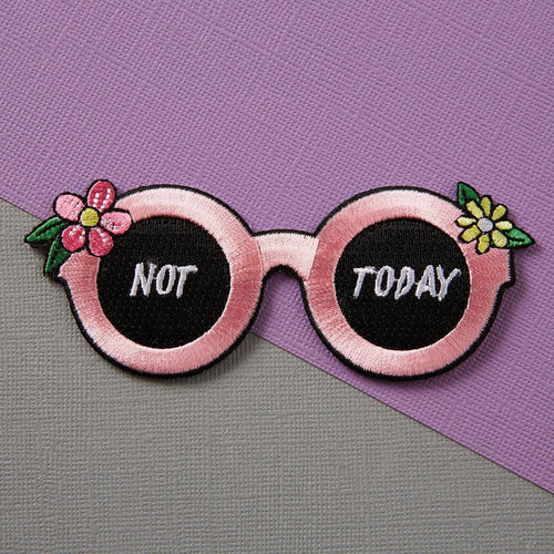 Punky Pins Not Today Sunglasses Iron-On Patch