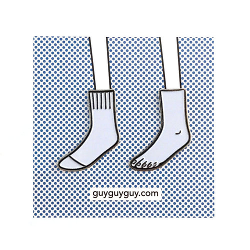 Guyguyguy Sock and Foot Enamel Pin Set