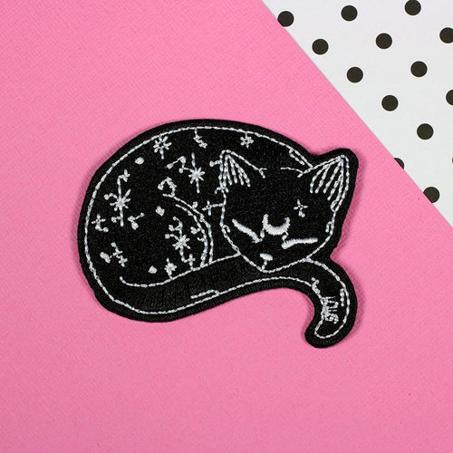 Punky Pins Mystical Cat Iron On Patch