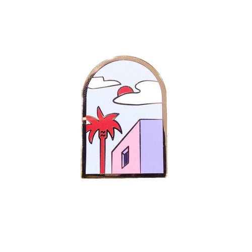 Jackie Lee Paradise Window Enamel Pin