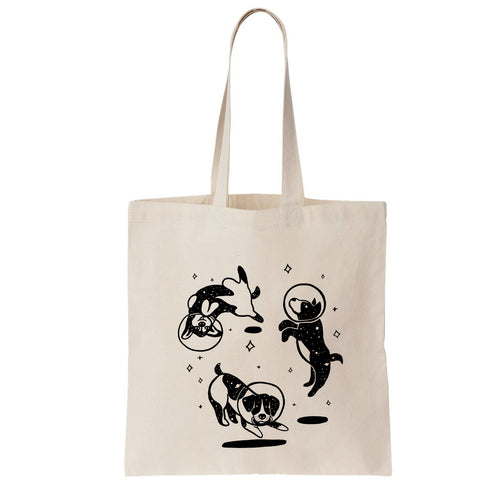 Jackie Lee Space Dogs Tote