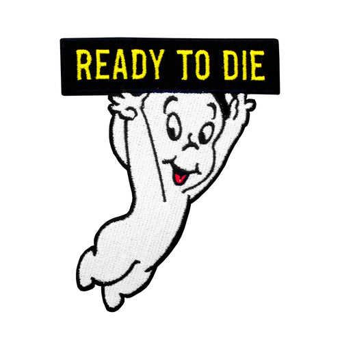 No Fun Ready To Die Casper the Friendly Ghost Iron On Patch