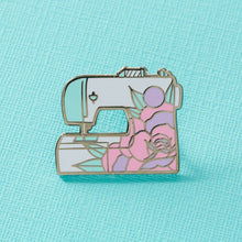 Punky Pins Floral Sewing Machine Enamel Pin