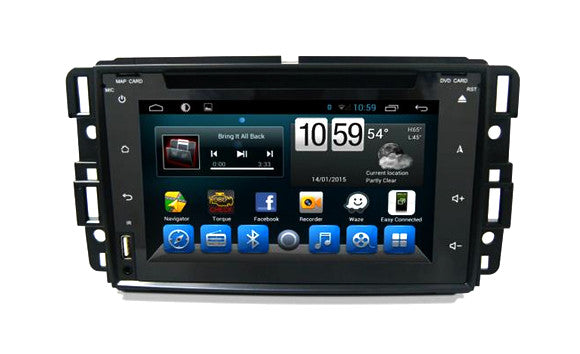 Buick, GMC, Chevy, Saturn Android Aftermarket GPS Navigation Car Stereo