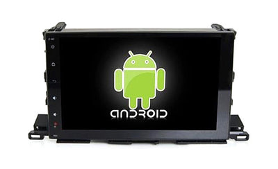 Toyota Highlander Android Aftermarket GPS Navigation Car Stereo without DVD