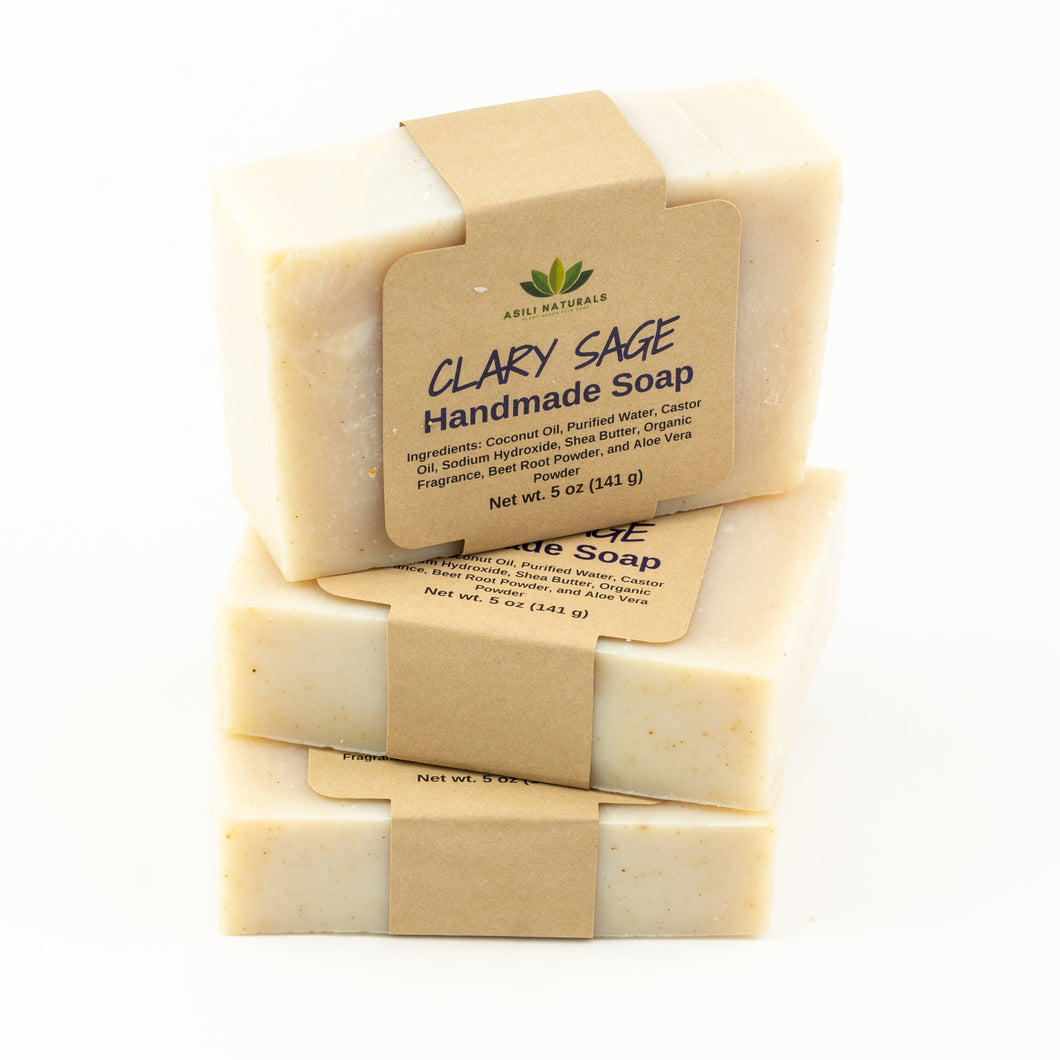 Clary Sage Soaps (3 pack) - Asili Naturals, LLC.