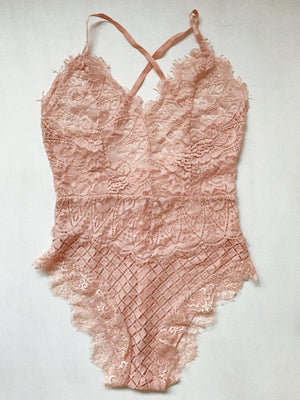 PALMS BODYSUIT PEACH - love bobby