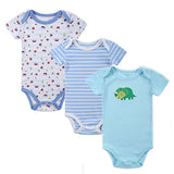 100% Cotton Baby Bodysuit 3pieces/lot Newborn Cotton Body Baby Short Sleeve Underwear Infant Boy Girl Pajamas Clothes