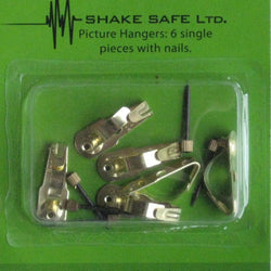 Shake Safe Picture Hooks – pkt of 6 single.