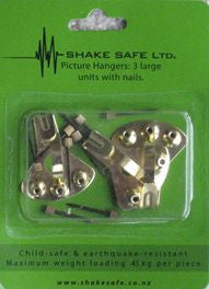 Shake Safe Picture Hooks – pkt of 3 large.