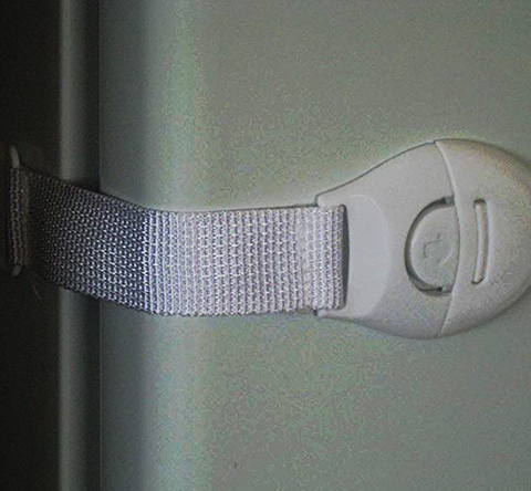 3 x Whiteware & Cabinet Door Security Straps