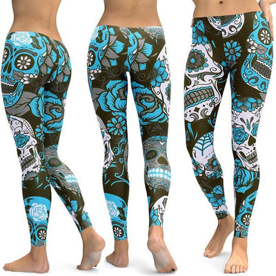 SUGAR SKULL LEGGINGS-FREE SHIPPING WORLDWIDE ONLY TODAY