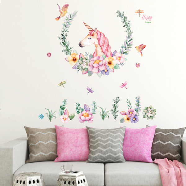 Removable DIY Unicorn Dream Wall Stickers Wall Decal - Laizis
