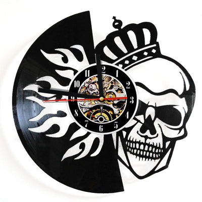 Sugar Skull Quartz Wall Clock for Home Decor - Laizis