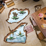Removable 3D Elephant Giraffe Island Floor Sticker - Laizis