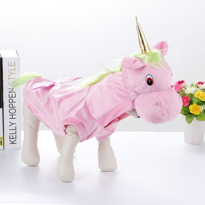Unicorn Plush Pet Costume for Halloween and Christmas - Laizis