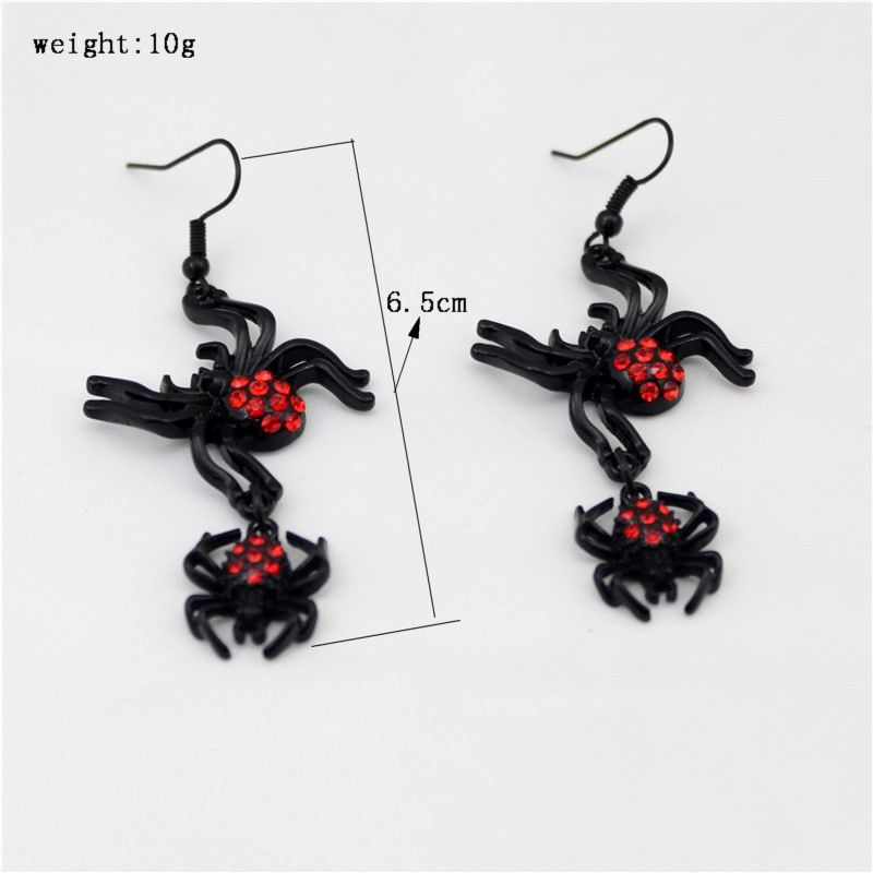 Black and Red Gothic Spider Necklace/Earrings