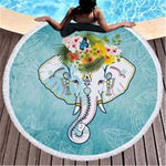 CUTE ELEPHANT BEACH TOWEL - Laizis