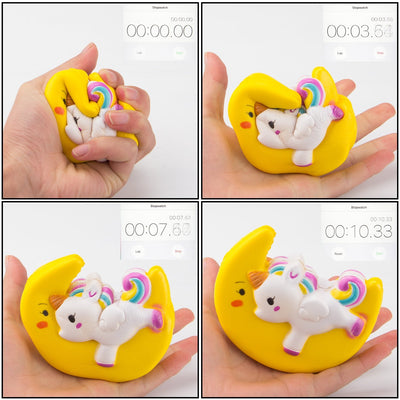 Slow Rising Toy, Moon Unicorn Squishy Cream Scented Decompression Squeeze Toys