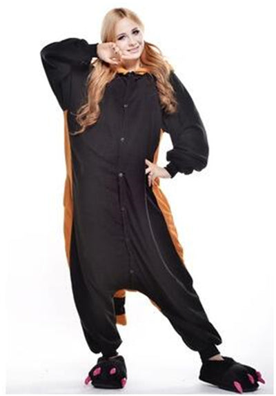 Raccoon Adult Pajamas Kigurumi Cosplay Costume Animal Winter Onesie Sleepwear - Laizis