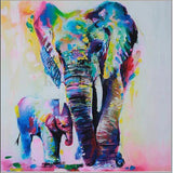 Elephant Oil Painting Canvas Wall Art