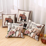 Vintage Indian Elephant Pillow Cover - Laizis