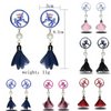 Five Colors Handmade Unicorn Earrings with Pearl and Petal - Laizis