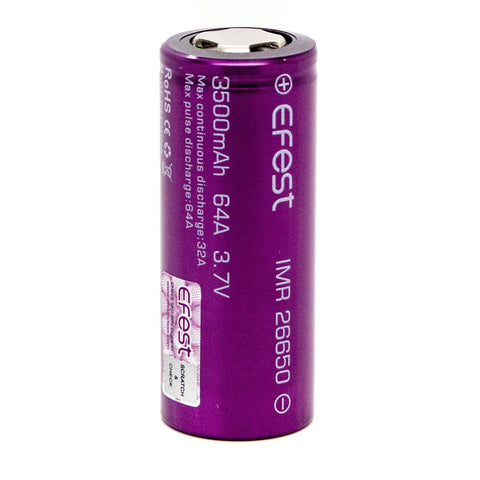 eFest 3500mah 26650 Battery 2 Pack