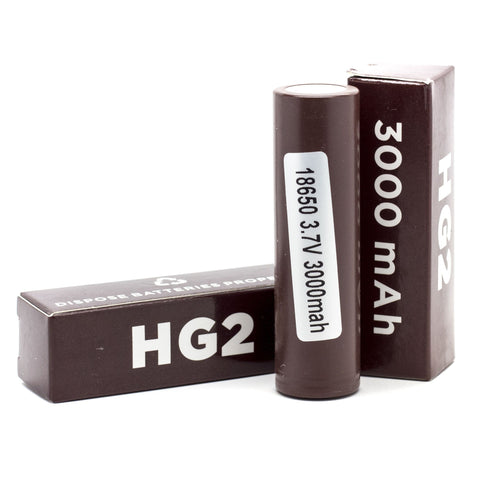 LG HG2 18650 3000mah Battery Brown