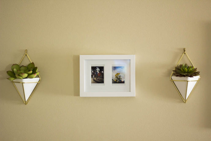White Instax Mini Picture Frame