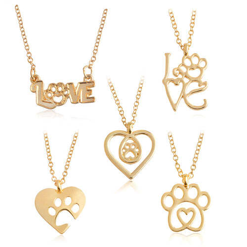 I Love Paw Necklace Collection Gold/Silver - AccessorTees