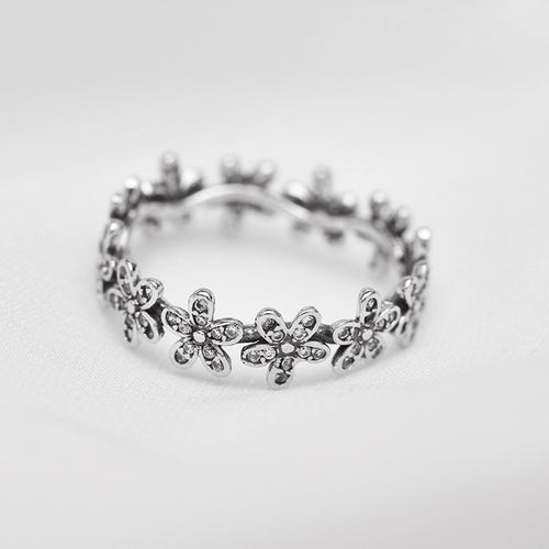 Sterling Silver Pandora-inspired Daisy Ring