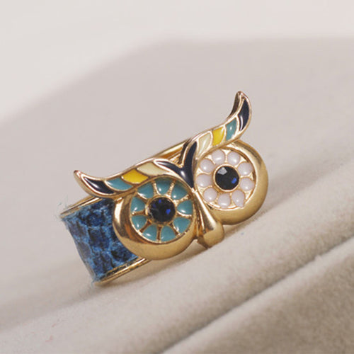 Mosaic Owl Ring - AccessorTees