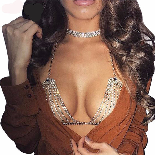 2017 Sexy Gold Sequins Women Bralette - AccessorTees