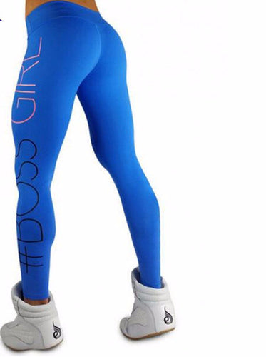 2017 Fashion Print Boss Girl Printed High Waist Fitness Leggings - AccessorTees