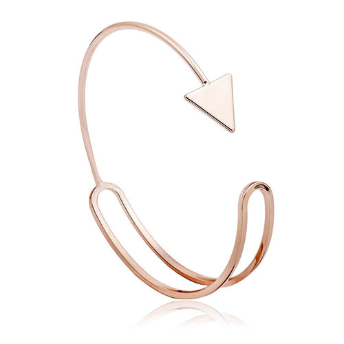 FREE! FREE! FREE! Sterling Silver or Black or Gold Plated Arrow Bangle - AccessorTees