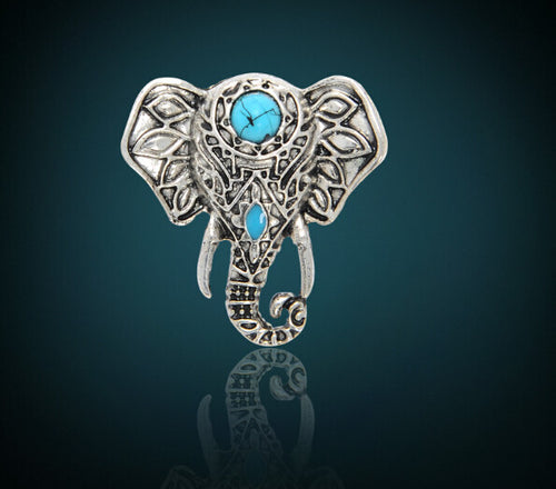 New Bohemia Vintage Silver Elephant ring - AccessorTees