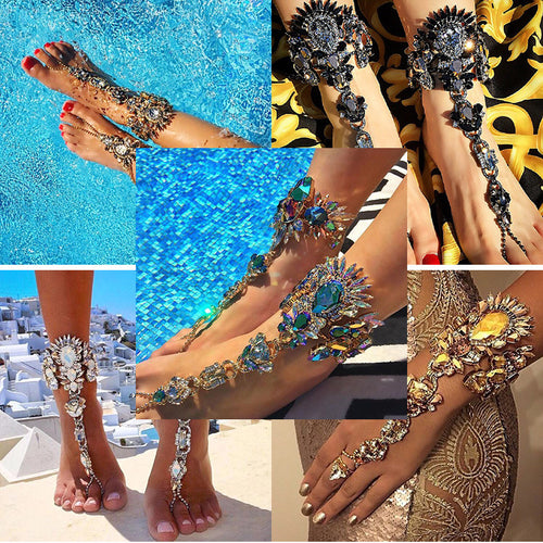 2017 HOT Fashion Sexy Jeweled Anklet, Bracelet and Belt Body Chains - AccessorTees