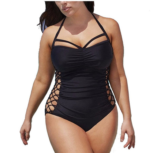 Sexy Plus Size Cut-out Swimwear