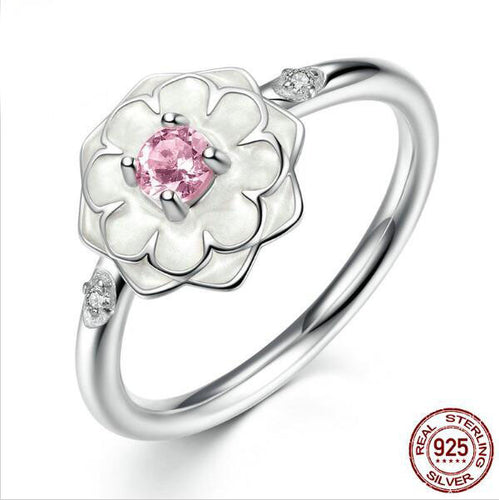 Sterling Silver Pandora inspired Flowers Rings Dazzling Daisies available in 2 colors