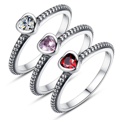 Authentic Pandora-inspired Silver Ring Collection - AccessorTees